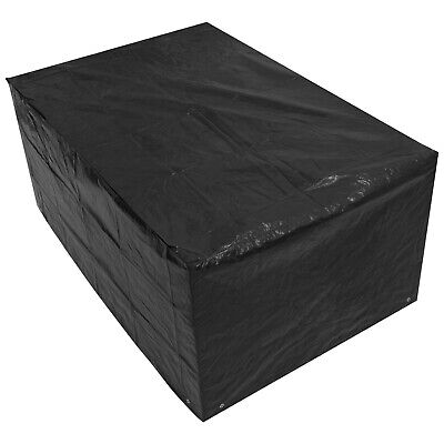 Woodside Black 5FT Small Rectangle Waterproof Garden Furniture Table Cover