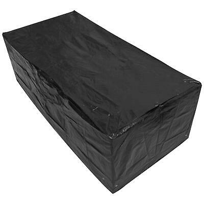 Woodside Black 6FT Large Rectangle Waterproof Garden Furniture Table Cover