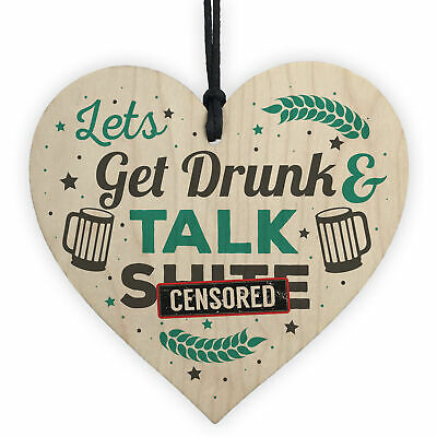Novelty Alcohol Man Cave Wooden Sign Home Bar Pub Plaques Vodka Gin Friend Gifts