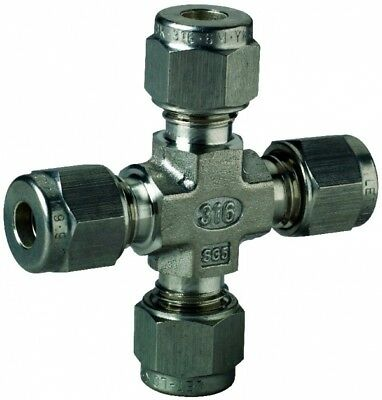 """7102L-SS-1 Stainless Steel Union Cross - Tube O/D 1"""""""