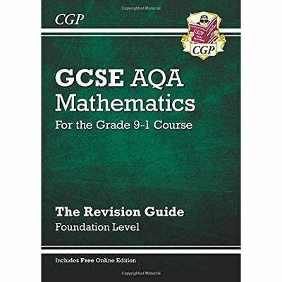 New GCSE Maths AQA Revision Guide: Foundation - for the - Paperback NEW CGP Book