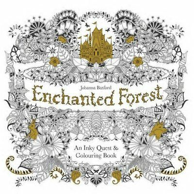 Enchanted Forest: An Inky Quest and Colouring Book - Paperback NEW Basford, Joha