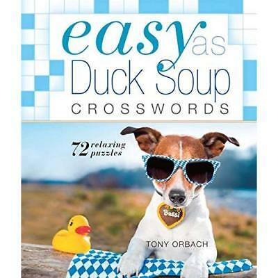 Easy as Duck Soup Crosswords (Easy Crosswords) - Spiral-bound NEW Tony Orbach (A