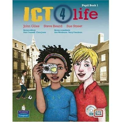 ICT 4 Life Year 7: Students' ActiveBook (Book + CD) - Paperback NEW Giles, John