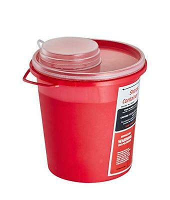 AdirMed Sharps Needle Disposal Container 1.5 Quart Round-Shaped