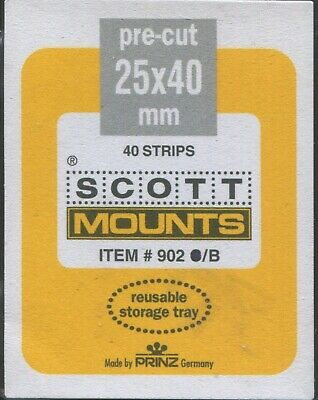 Scott/Prinz US Standard Comm. Horizontal Stamp Mounts Size: 40x25 Black #901 B