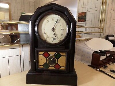 Nice Running Antique Chiming Bracket / Wall / Mantel Clock, Crack On Glass