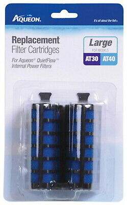 Aqueon Replacement Filter Cartridges AT30 & AT40, Large 2ct