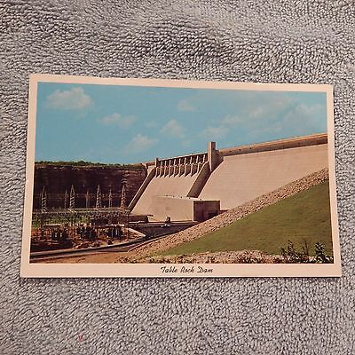 Vintage Postcard Table Rock Dam Across White River, In The Missouri Ozarks