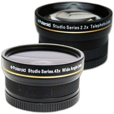 Polaroid Studio Series 52/55/58mm .43x HD Wide Angle Lens With Macro Attachment