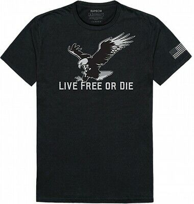 RapDom Live Free Or Die Eagle Tactical Graphics Mens Tee