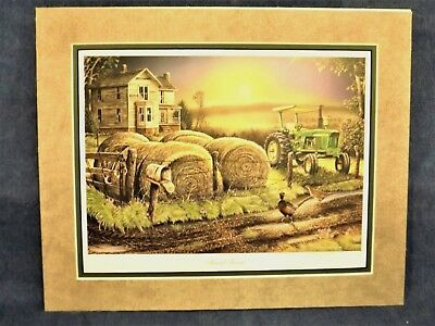 JOHN DEERE 4020 TRACTOR PRINT - RURAL ROUTE by TERRY HOYT - DOUBLE MATTED