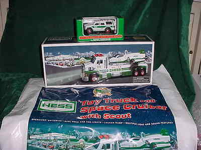 Xmas Two 2014 Trucks Christmas Toy Truck And Space Cruiser W/scout & Mini Suv