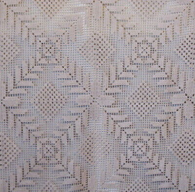 "Beautiful Vintage Crochet Lace Tablecloth - 75"" X 60"""