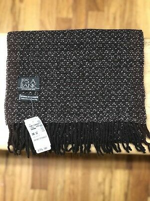 $79.50 Jos A Bank Wool Blend Knit Scarf and Hat Set Color Navy
