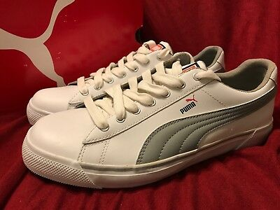 75614b736e6e PUMA BENNY L White Gray Black Red Men s Shoes Size 10.5 New In Box! BASKETS