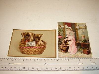 2 Antique Victorian Trade Cards Advertising Sewing Machines Wheeler & Wilson's