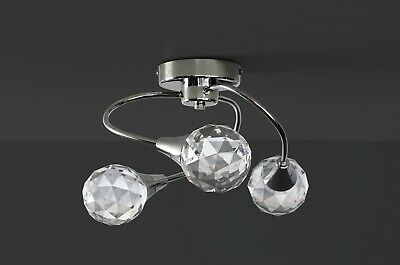 Argos Home Prism 3 LED Acrylic Faceted Ceiling Light -Chrome