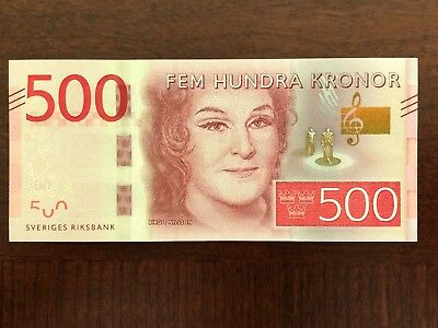 New Sweden 500 Kronos 2015 Banknotes UNC Peper Money PCGS Currency
