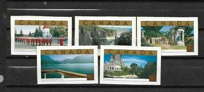 pk39111:Stamps-Canada #1989a-1989e Tourist Attractions 65 cent Issues - MNH