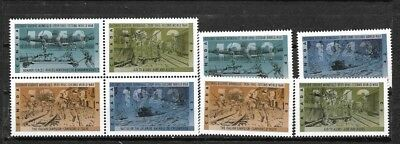 pk39120:Stamps-Canada #1503-1506a World War II 43 cent Issues - MNH