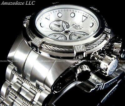 Invicta Men 52mm Bolt Zeus Swiss Z60 Chronograph Stainless St.Silver Dial Watch
