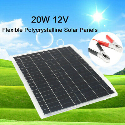 20W 12V Poly Solar Panel Off Grid Battery Charger+Controller+3m Cable For Car RV