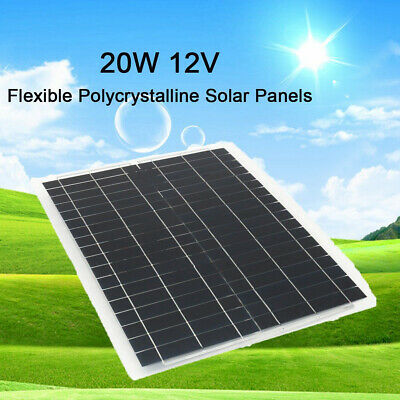 130W 12V Mono Solar Panel Off Grid Battery Charger For Boat Caravan Motorhome