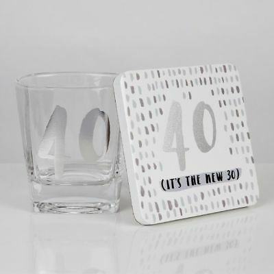 Personalised Birthday Whisky Glass & Coaster 50 40 70 - Add your own message
