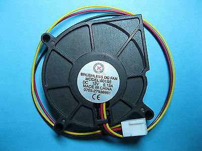 10 pcs Brushless DC Blower Fan 12V 6015S 60x15mm 3 Wires Sleeve-bearing New