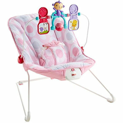 Fisher-Price CMR11 Baby's Bouncer, Pink Ellipse  (New Damaged Box)