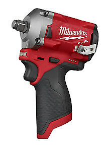 """Milwaukee Electric Tool 2555-20 M12 Fuel Stubby 1/2"""" Impact Wrench"""