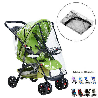 Pushchair Buggy Raincover Rain Cover Baby Transparent Stroller Pram Wind Shield