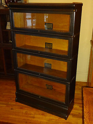 WE SHIP! Early Oak Globe Wernicke 4 High Stack Barrister Bookcase Arts & Crafts