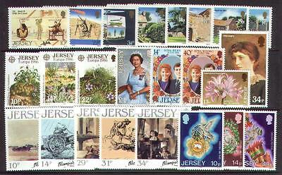 Jersey 1986 Complete Commemorative Year Set ( 8 Sets ) U/mint