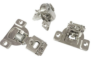 "50 PCS Overlay Cabinet Door Soft Close Hinges Hardware 1/2"" Soft-closing Compact"
