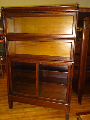 WE SHIP! Rare Early Globe Oak Combination Stack Barrister Bookcase Arts & Crafts