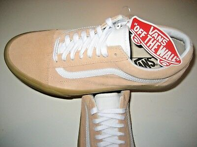 3728c0edd7 Vans Mens Old Skool Double Light Gum Apricot White Suede Skate shoes Size 8  NWT