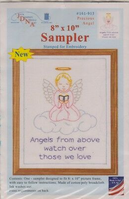 1 Jack Dempsey Precious Angel  Sampler Stamped For X Stitch/ Embroidery