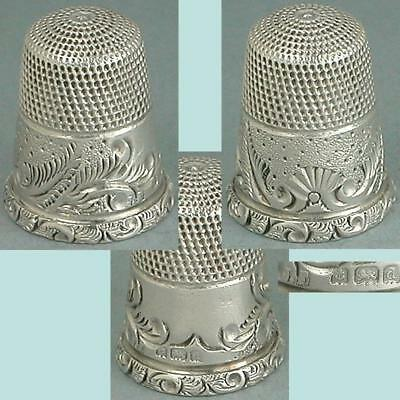 Nice Antique English Sterling Silver Thimble by James Fenton * Hallmarked 1904