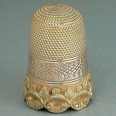 Antique Solid 9 Ct Gold Cable Style Thimble *  English * Circa 1850