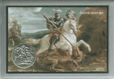 St George and The Dragon Saint George's Day England English Crown Coin Gift Set