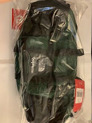 30afd08c8 SUPREME X THE North Face Leather Mountain Waist Bag Dark Green New