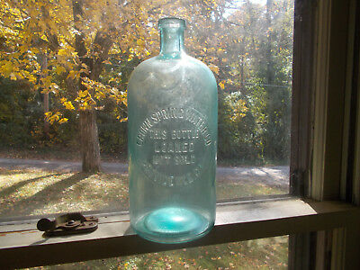 """PROVIDENCE,RI CROWN SPRING WATER CO RARE 1890s BIG 10 1/2""""TALL BOTTLE"""