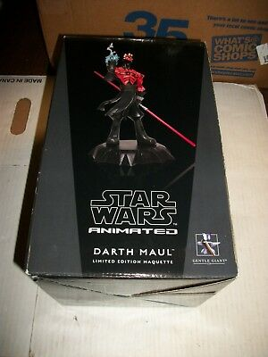 Gentle Giant Star Wars Animated DARTH MAUL Maquette #1229/2500