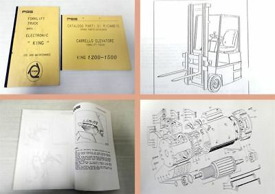 PGS King 1200 1500 Forklift Truck Use and Maintenance, Parts List