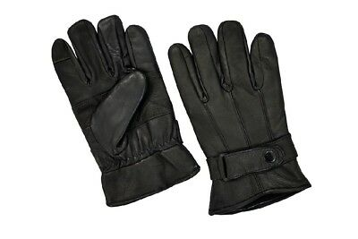 Mens Lambskin Leather Gloves Winter Warm Touch Screen Gloves New All Sizes