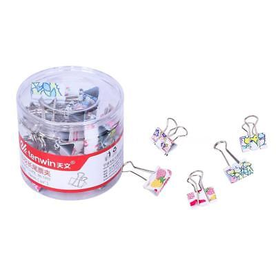 tenwin 24 Pcs Lovely Cute Metal Binder Clips Organizers Assorted Printing T8L0