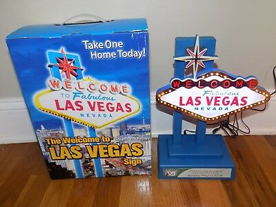 Welcome to Fabulous Las Vegas Nevada Desk Sign Flashing Lights-Up