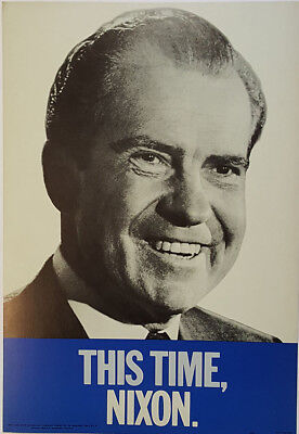 1968 Scarce This Time Nixon Campaign Poster